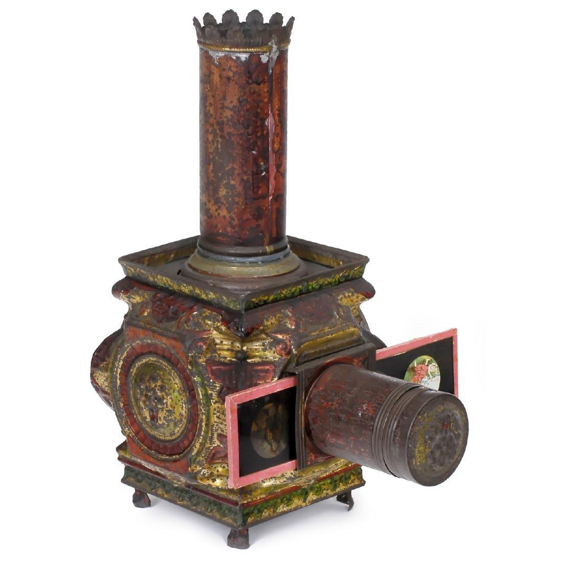 "Small ""Lampascope Carrée"" Magic Lantern, c. 1870"