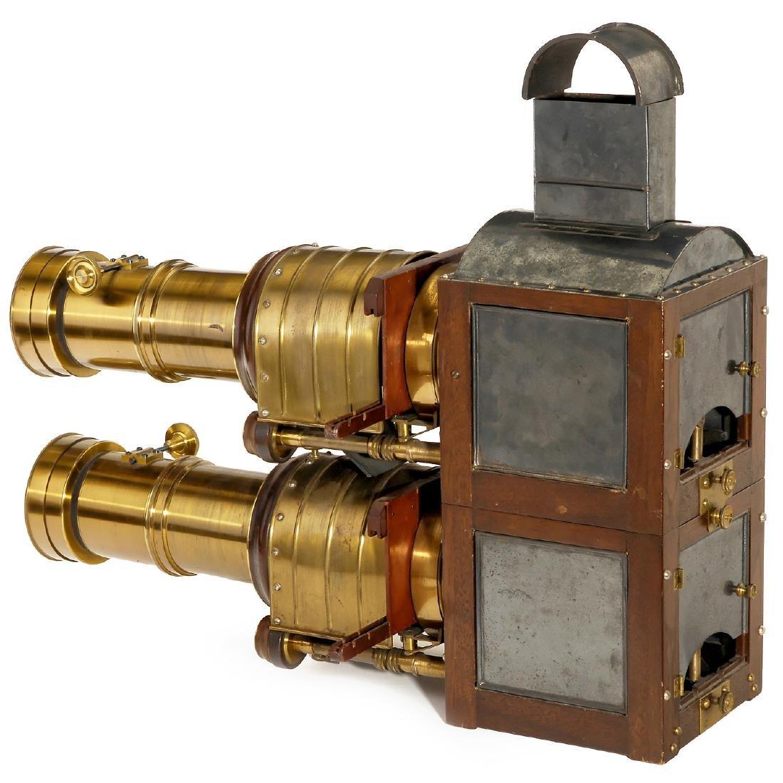Biunial Magic Lantern with Petzval-Type Darlot Lenses, - 2