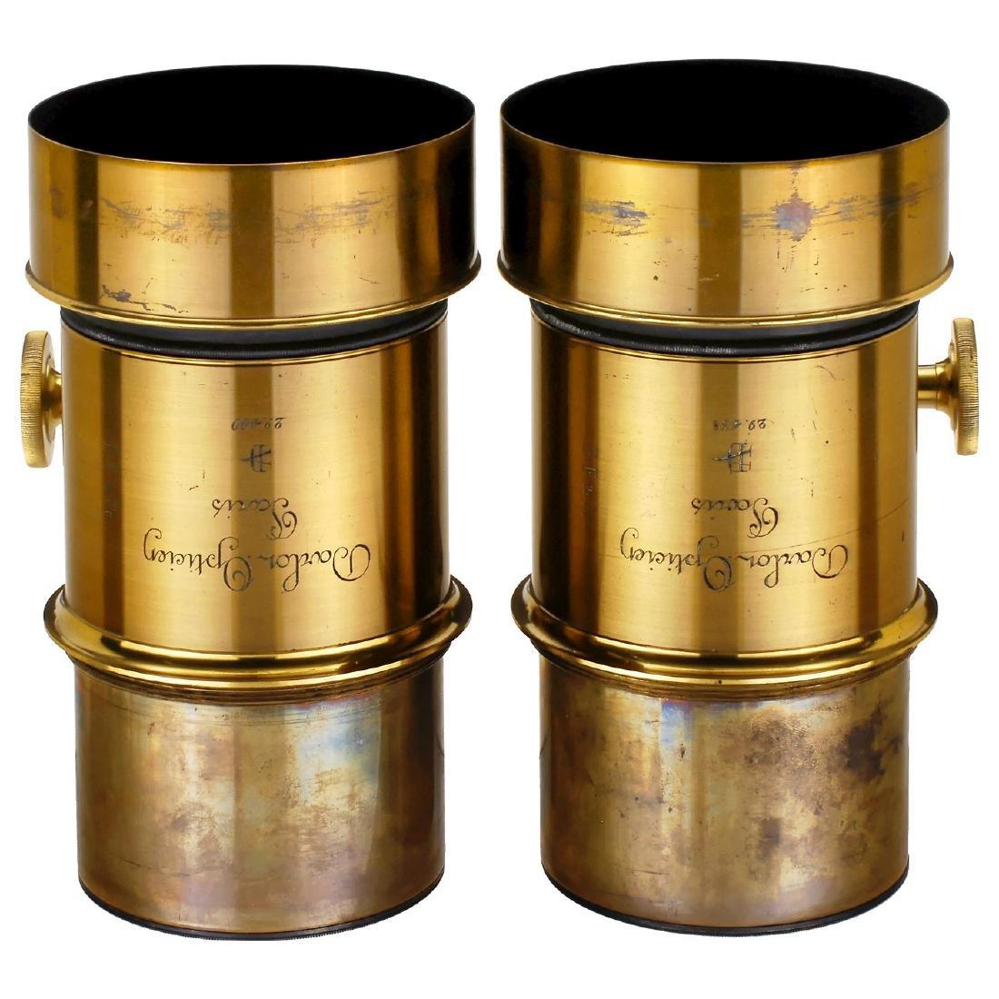 Biunial Magic Lantern with Petzval-Type Darlot Lenses, - 3
