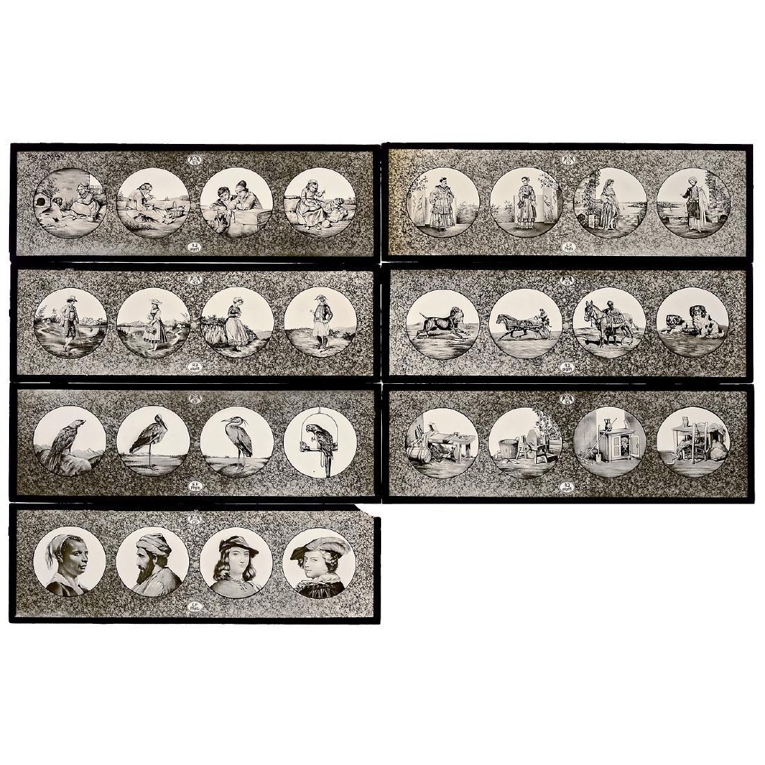 7 Photographic Lantern Slides by Plank, c. 1903