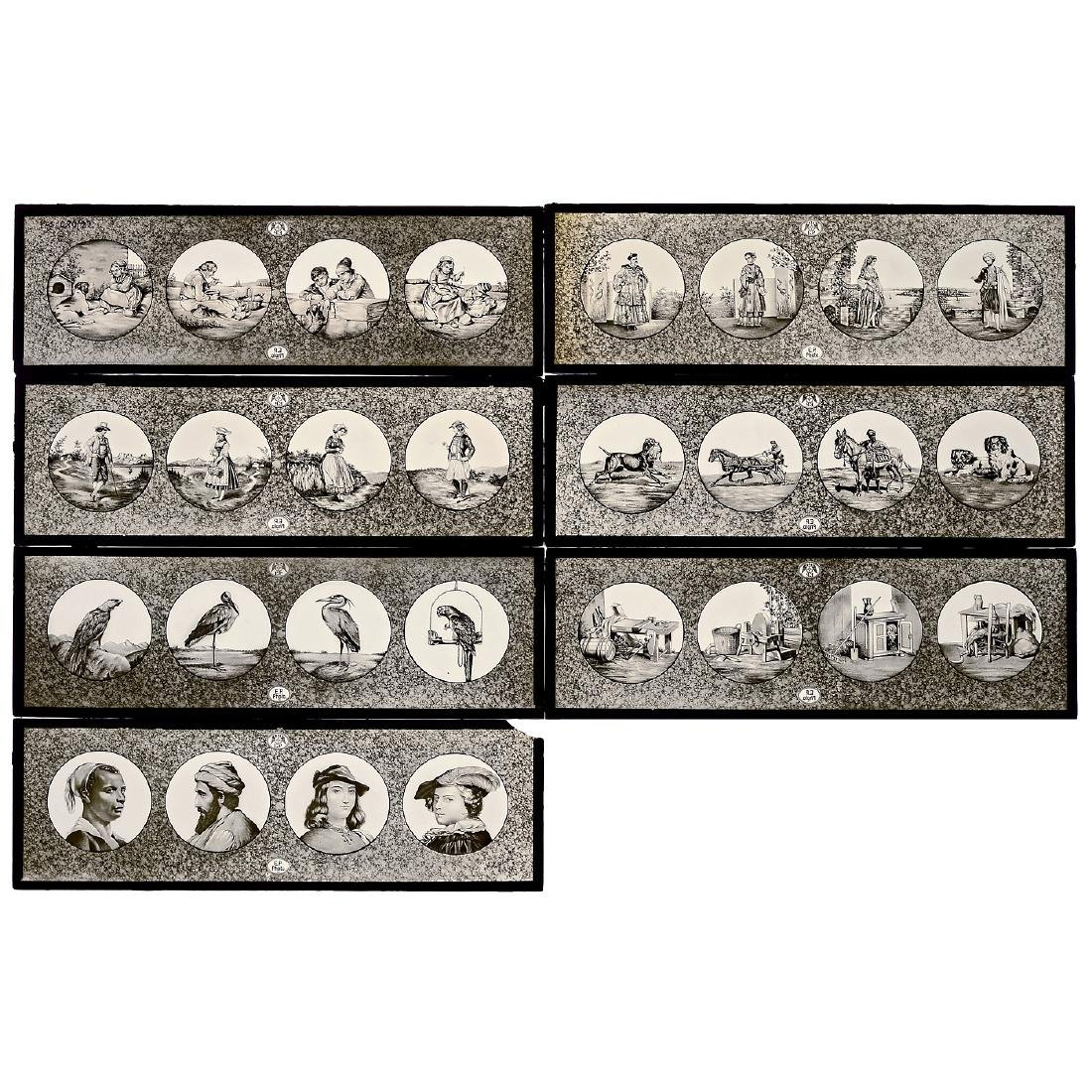 7 Photographic Lantern Slides by Plank, c. 1903