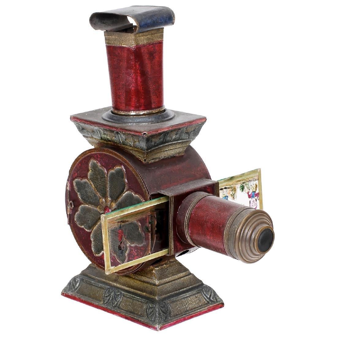 Polychrome de Salon Magic Lantern by Lapierre, c. 1880
