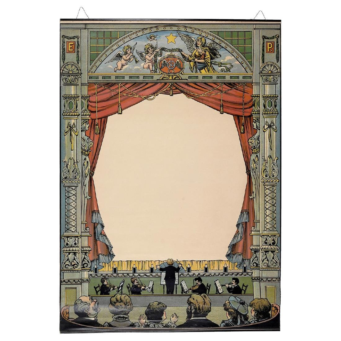 Original Projection Screen by Ernst Plank, 1914