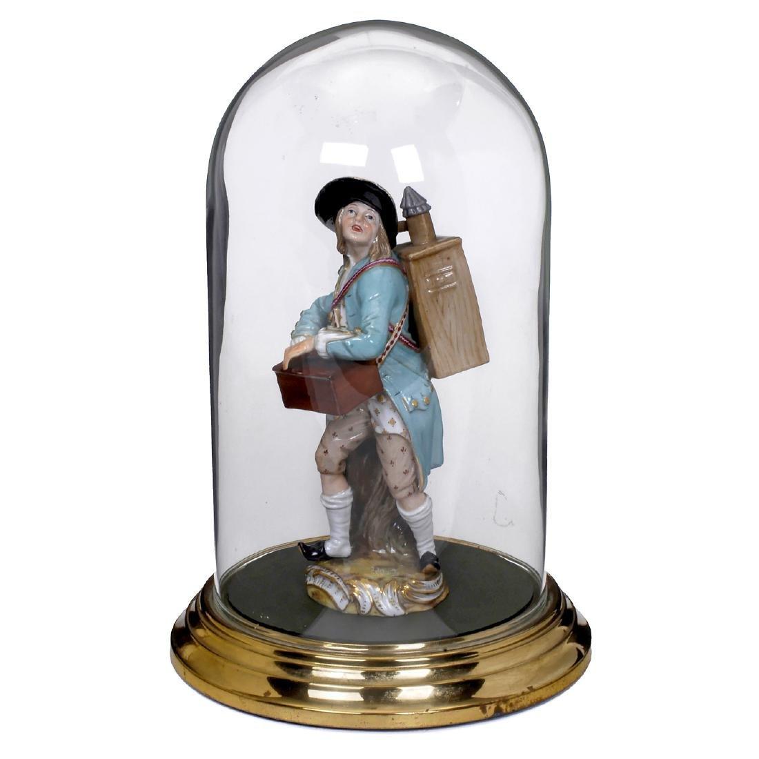 Porcelain Figure of a Magic Lanternist by Meissen, 19th