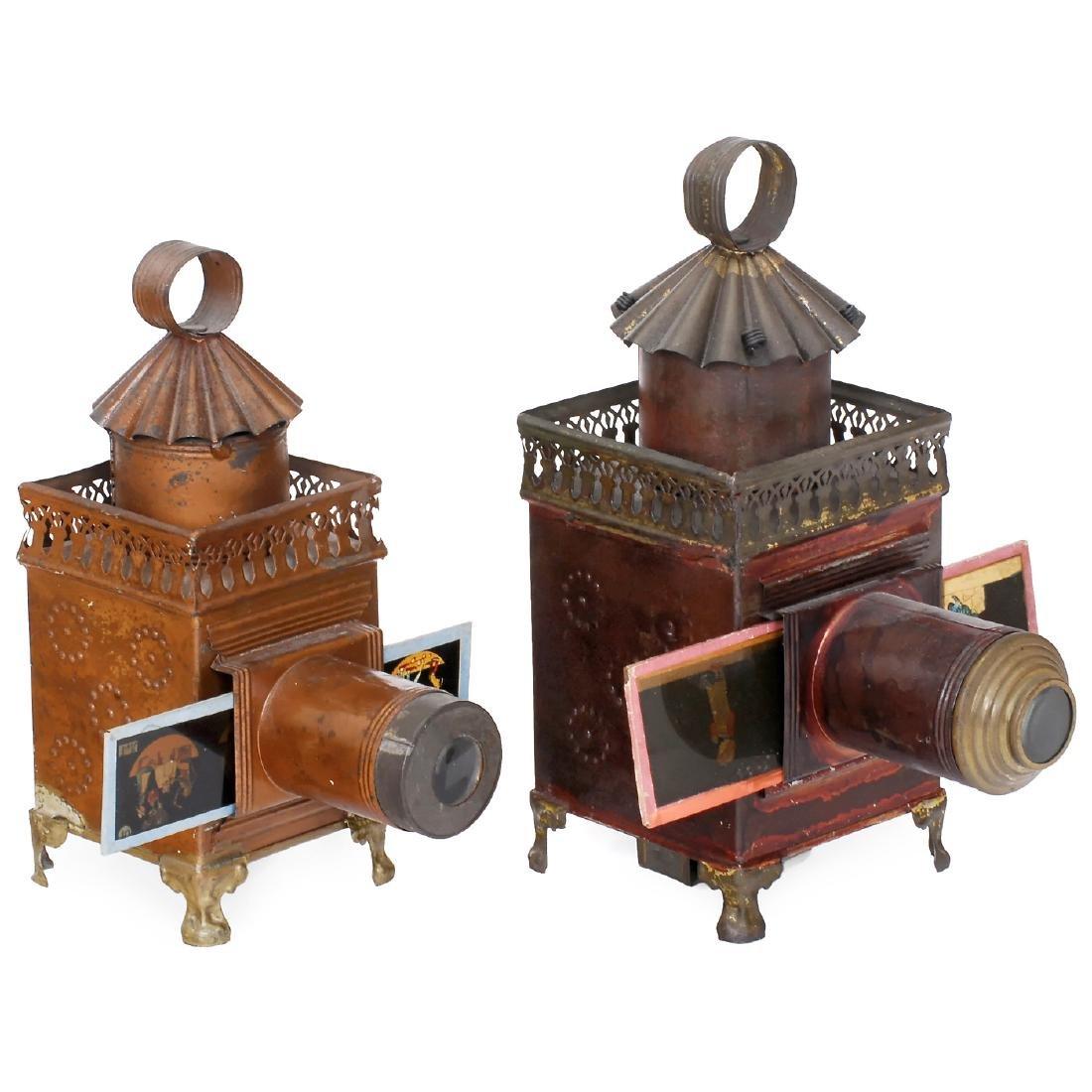 """2 """"Carrée"""" Magic Lanterns by Lapierre, c. 1865-70"""