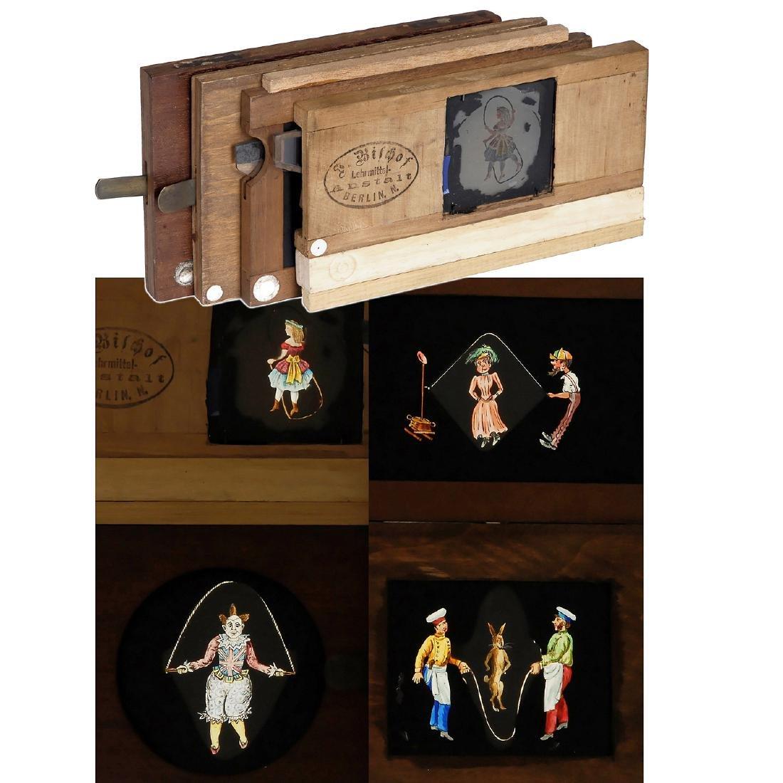 4 Magic Lantern Skipping Slides, c. 1870-80