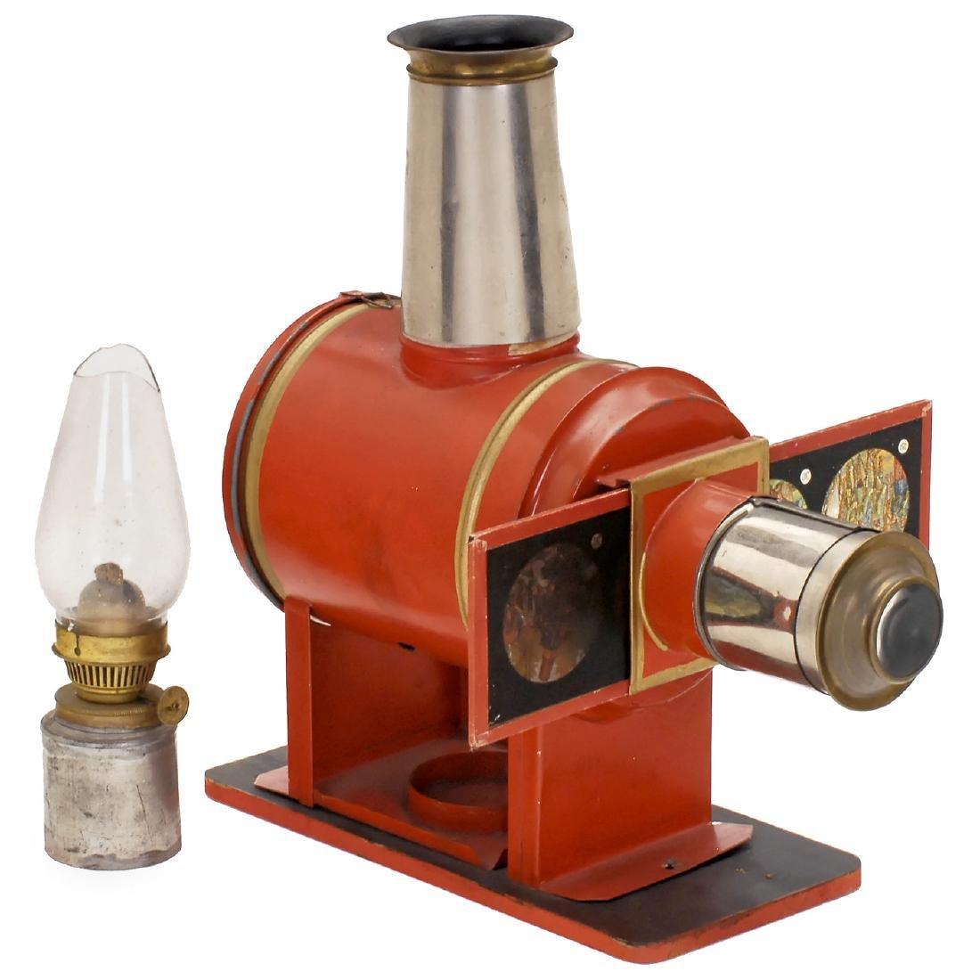 Red Magic Lantern bv E. Plank, c. 1895