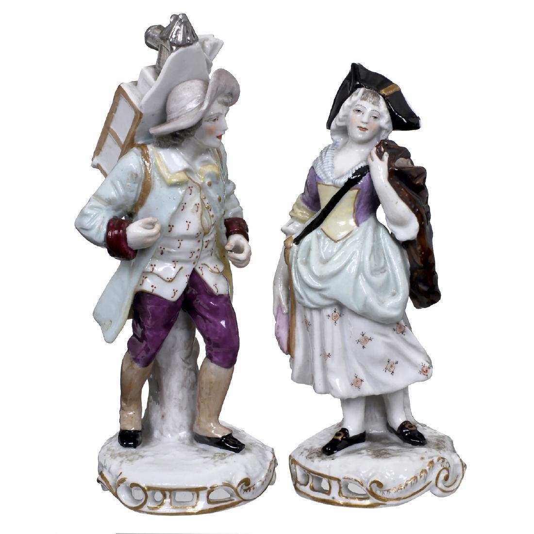 Figural Porcelain Group with Lanternist by Samson, c.