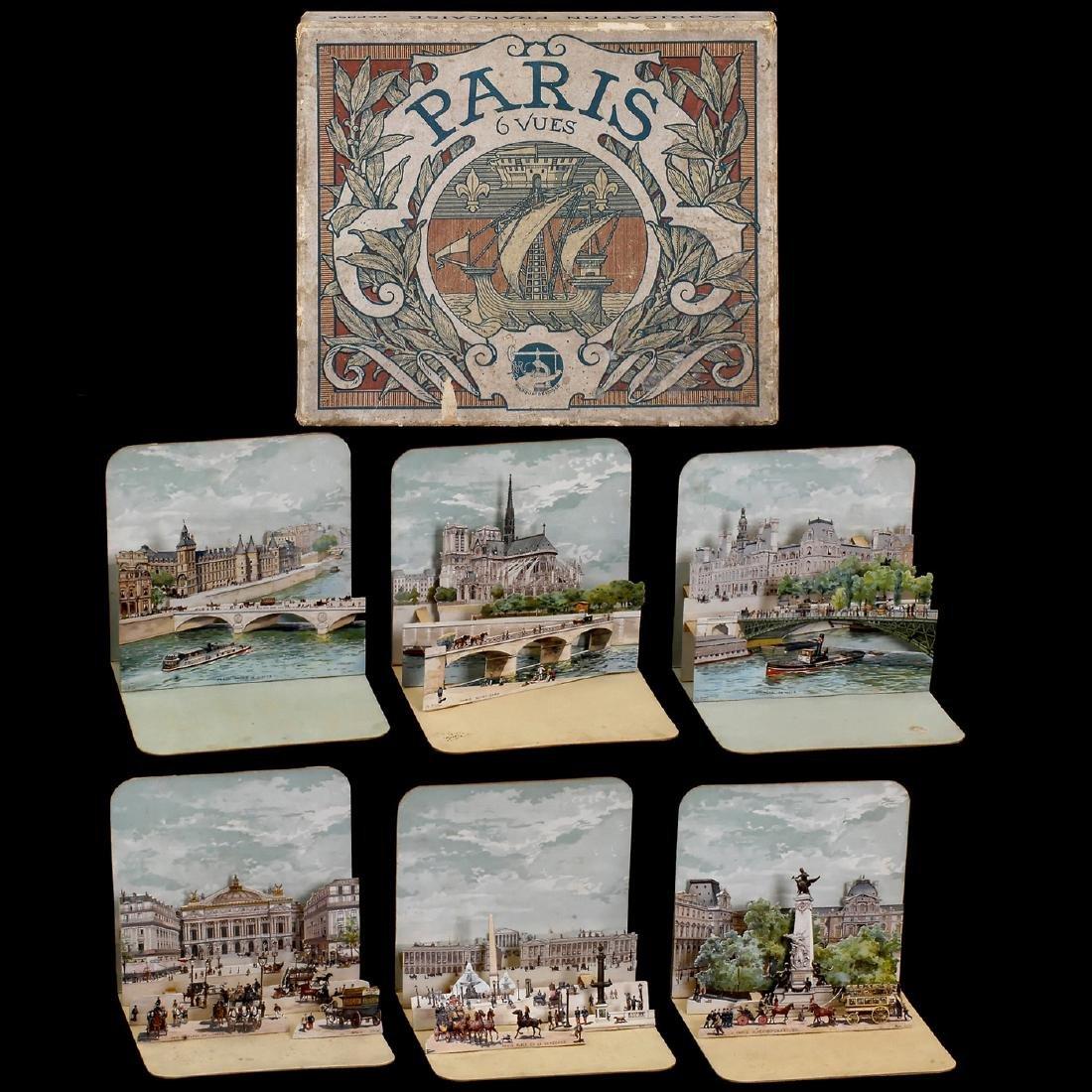 6 Views of Paris, c. 1890