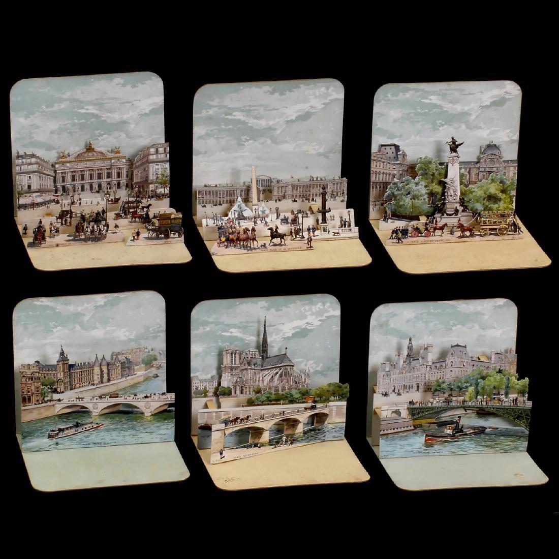 6 Views of Paris, c. 1890 - 2