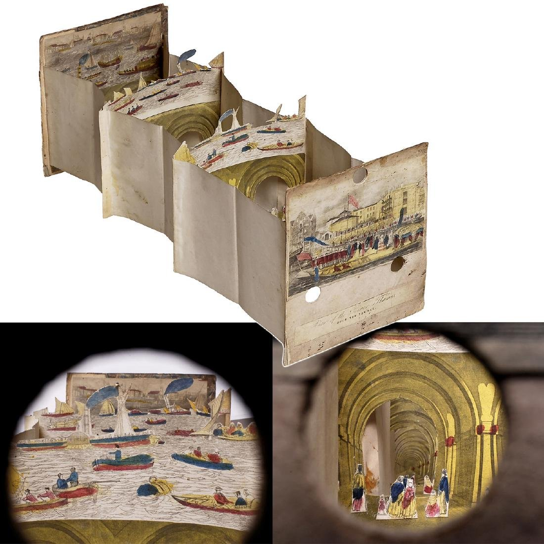 "Perspective Diorama ""History of the Thames Tunnel"", c."