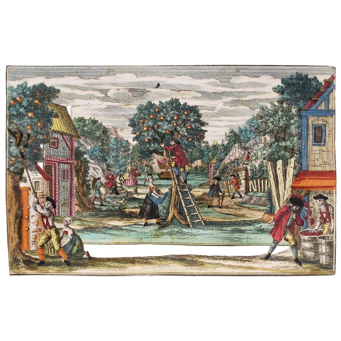 Perspective View of a Garden, c. 1750