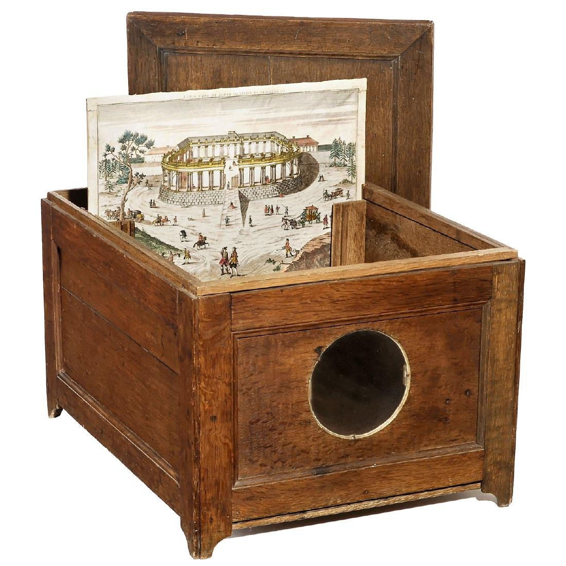Early Oak Peep Box, c. 1780