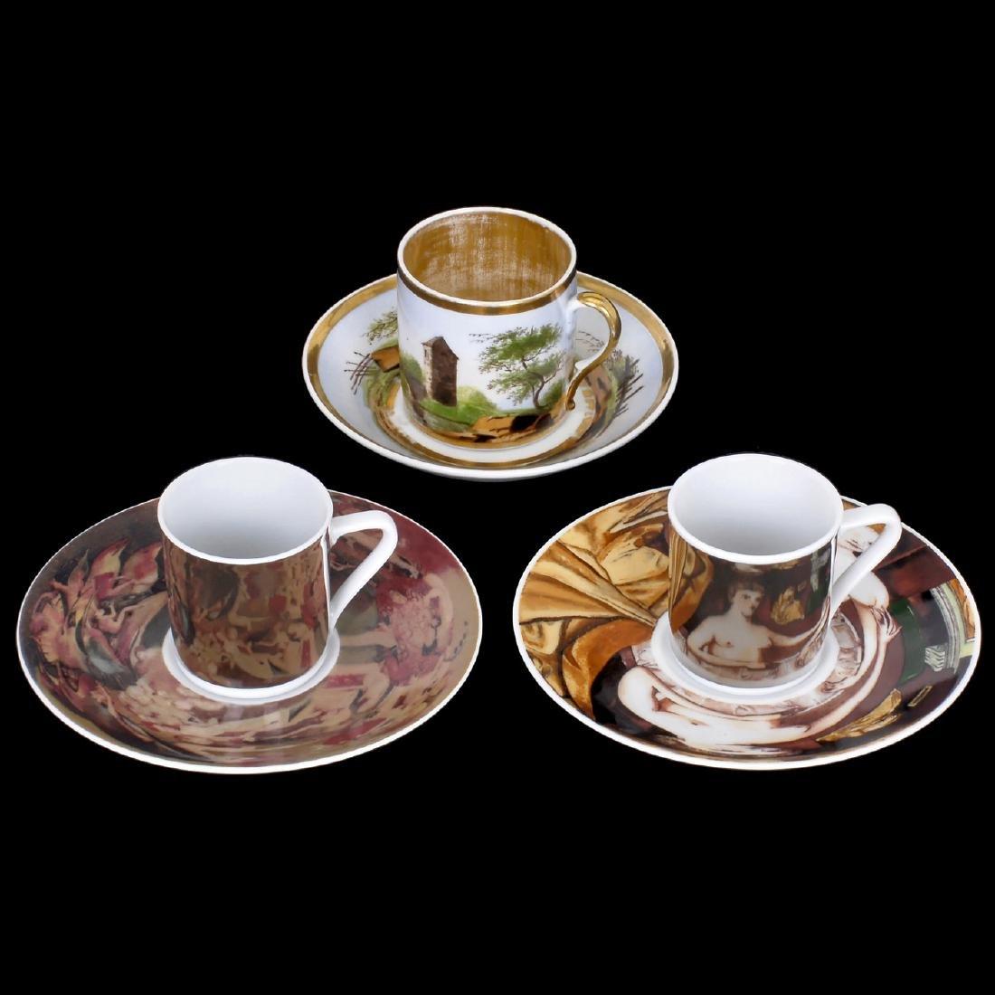 2 Anamorphic Mocha Cups
