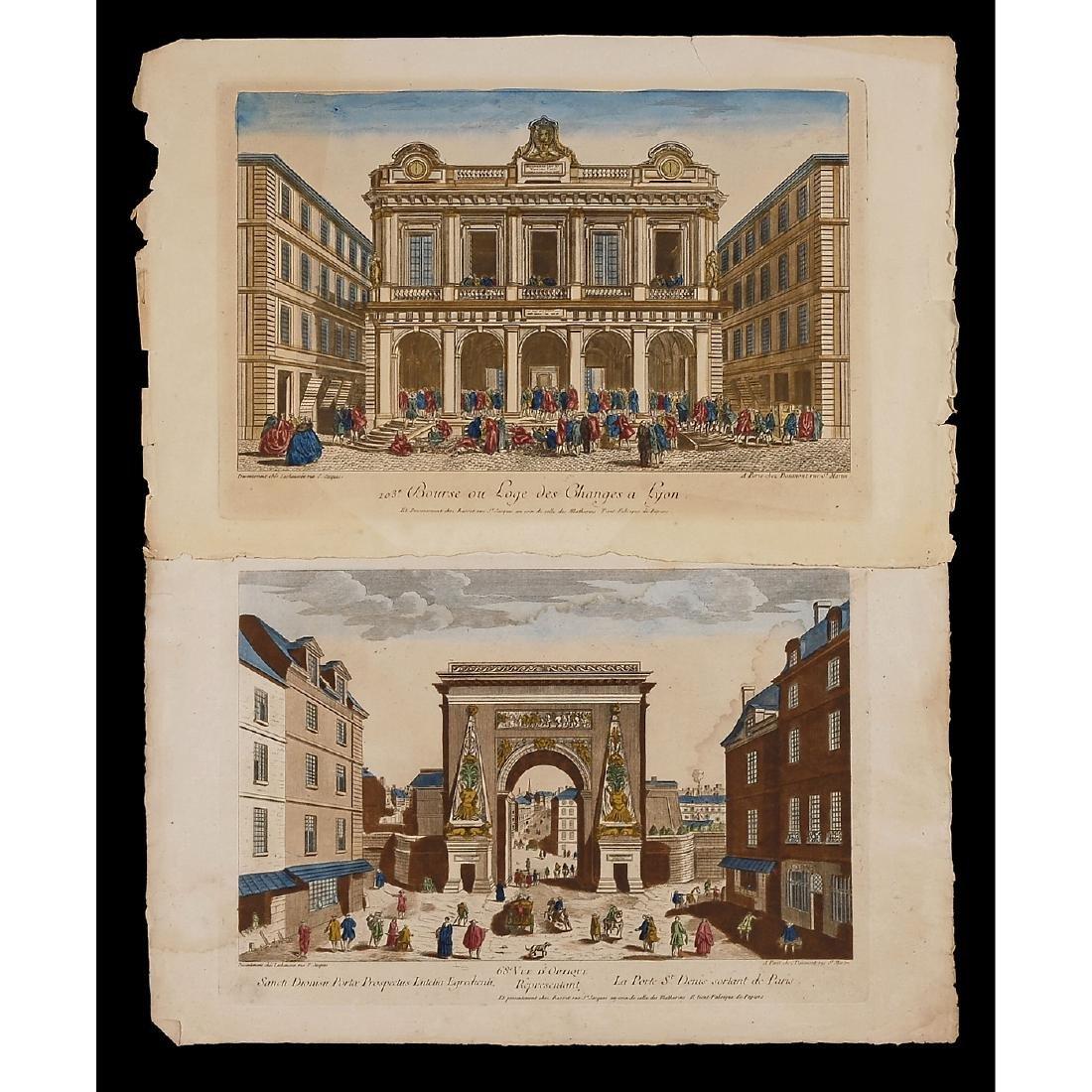 4 Vues d'Optique, c. 1765 - 2