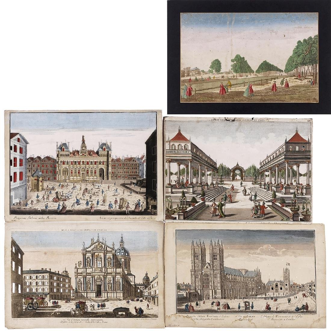 5 Day-and-Night Vues d'Optique, c. 1800-1850