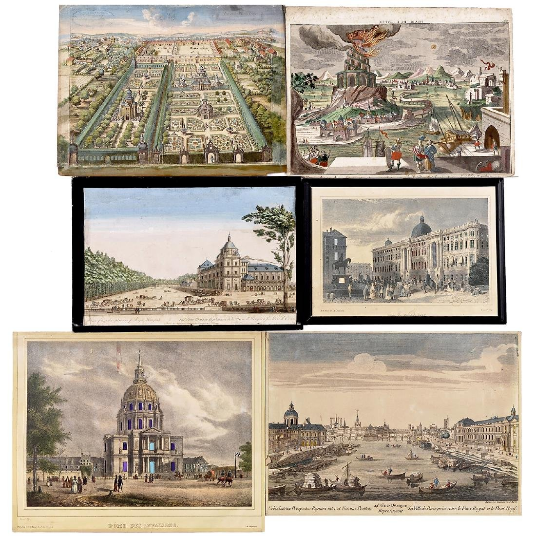 6 Day-and-Night Vues d'Optique, c. 1800-1850