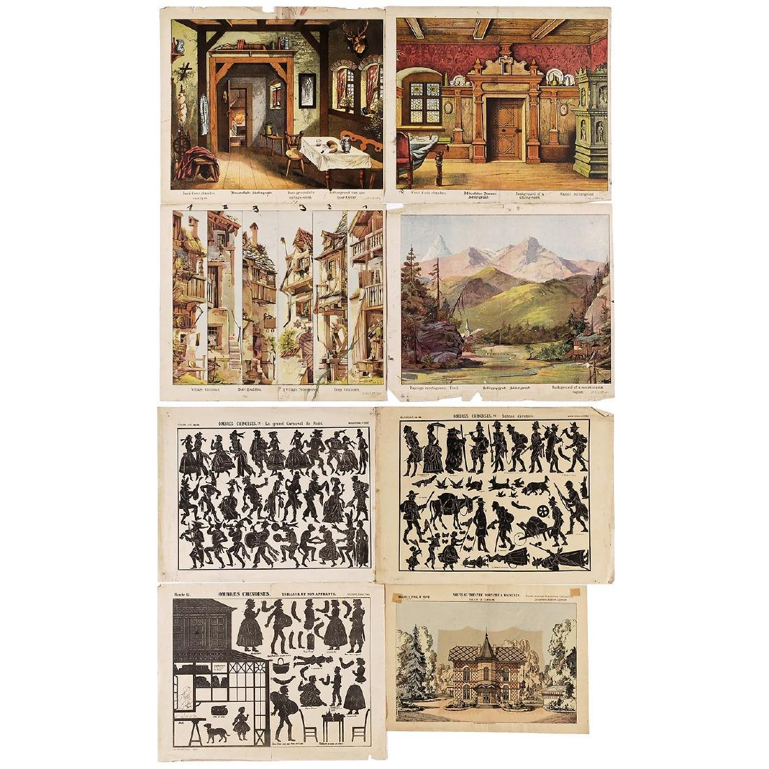 Peep-Show Perspective Views and Shadow Figure Sheets,