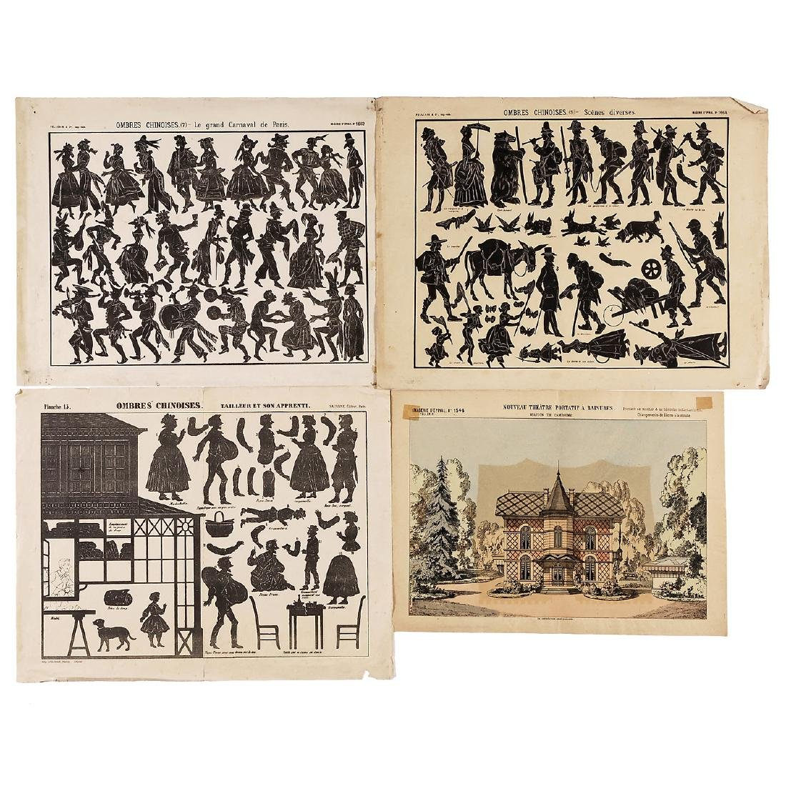 Peep-Show Perspective Views and Shadow Figure Sheets, - 3