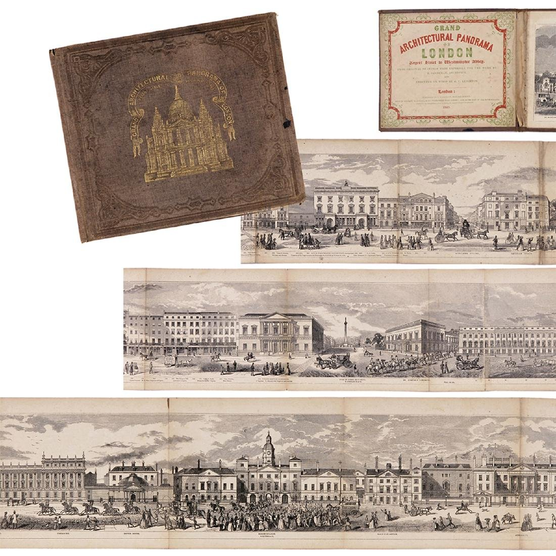 Grand Architectural Panorama of London by R. Sanderson
