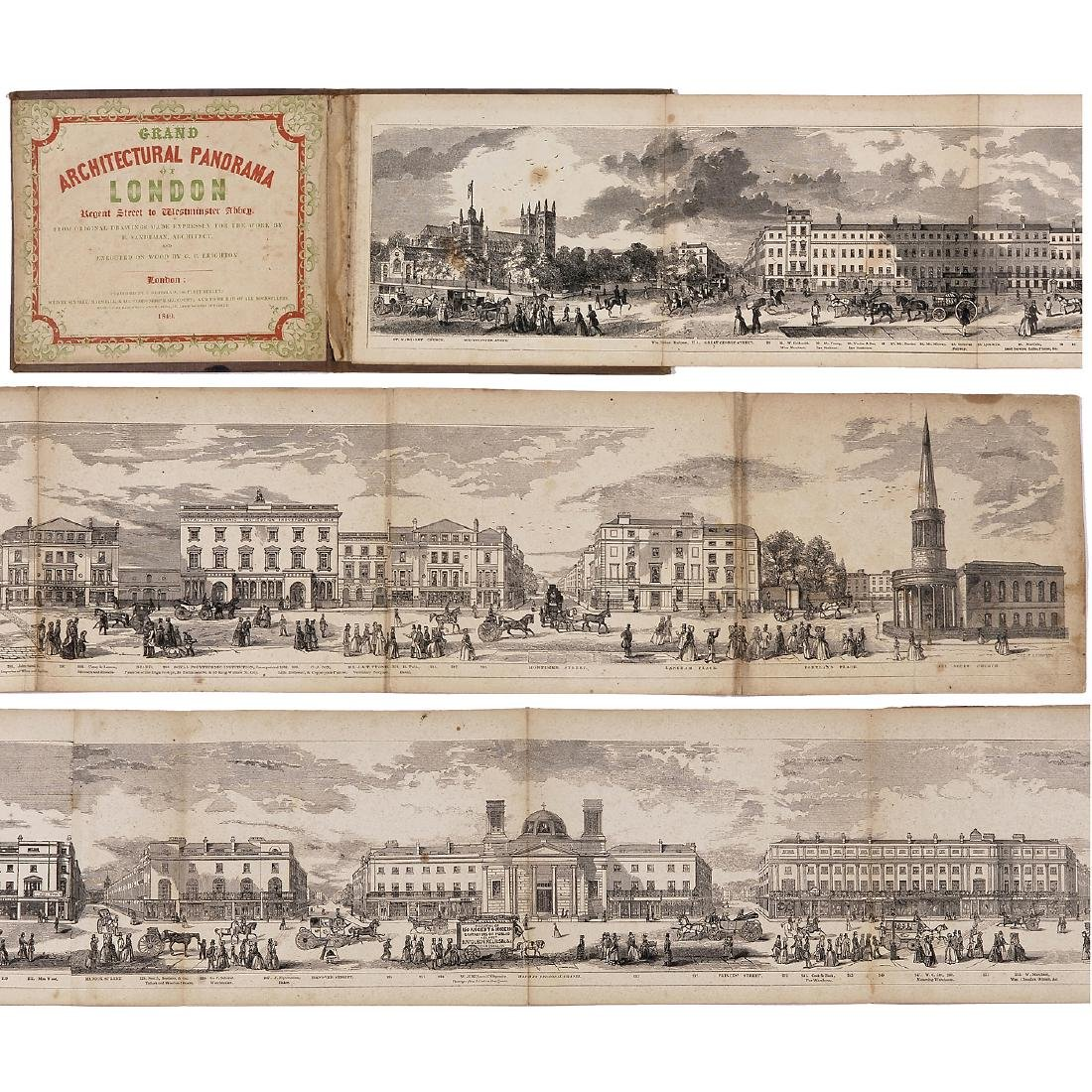 Grand Architectural Panorama of London by R. Sanderson - 2