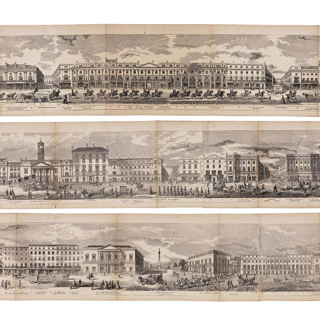Grand Architectural Panorama of London by R. Sanderson - 3