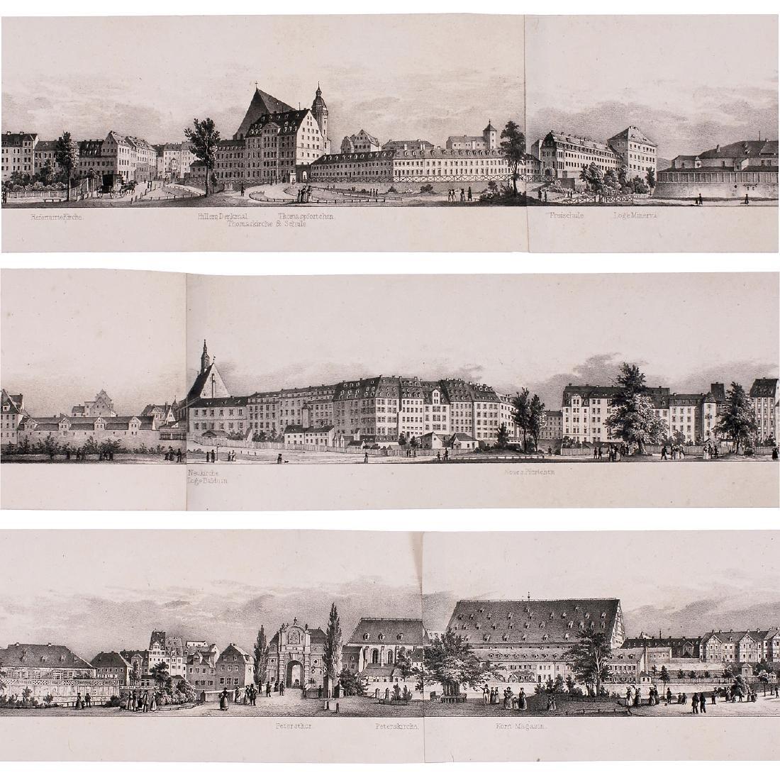 Six-Meter Panorama of Leipzig, c. 1845 - 4