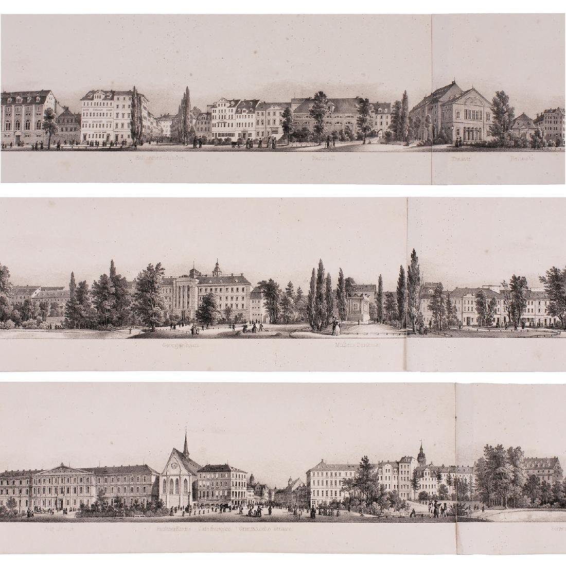 Six-Meter Panorama of Leipzig, c. 1845 - 5