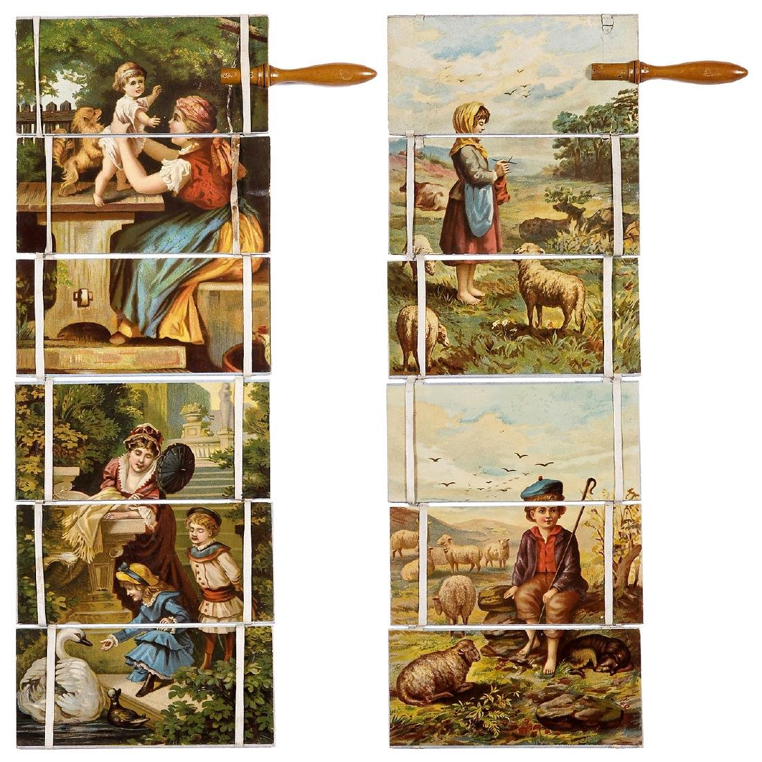 "Transformation Toy ""Jacob's Ladder"", c. 1850-60"
