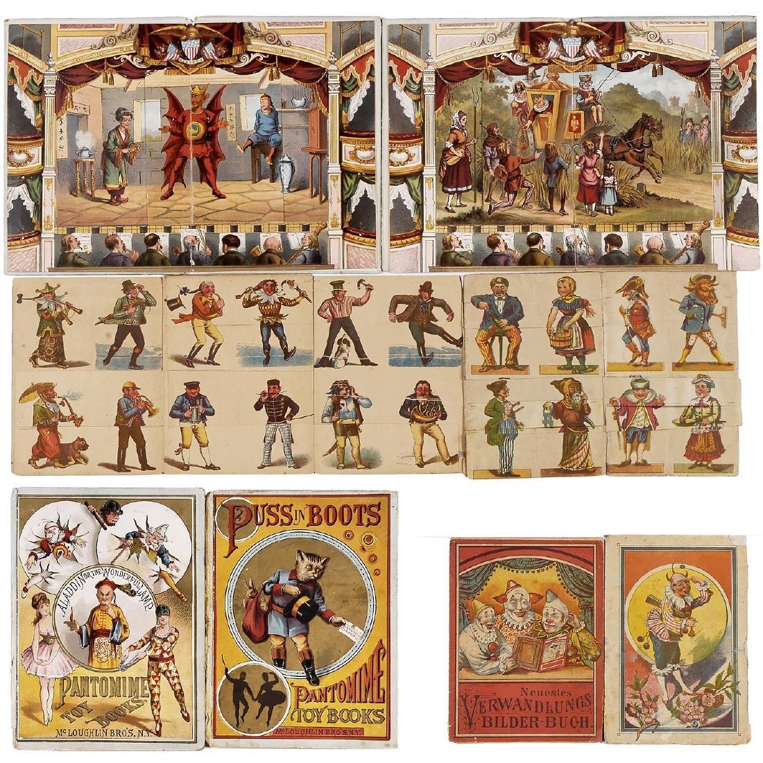 4 Metamorphic Panorama Books for Children, 1880-90