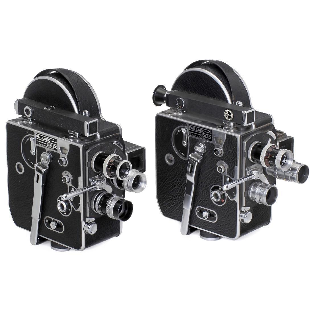 2 Bolex H8 Movie Cameras, c. 1952