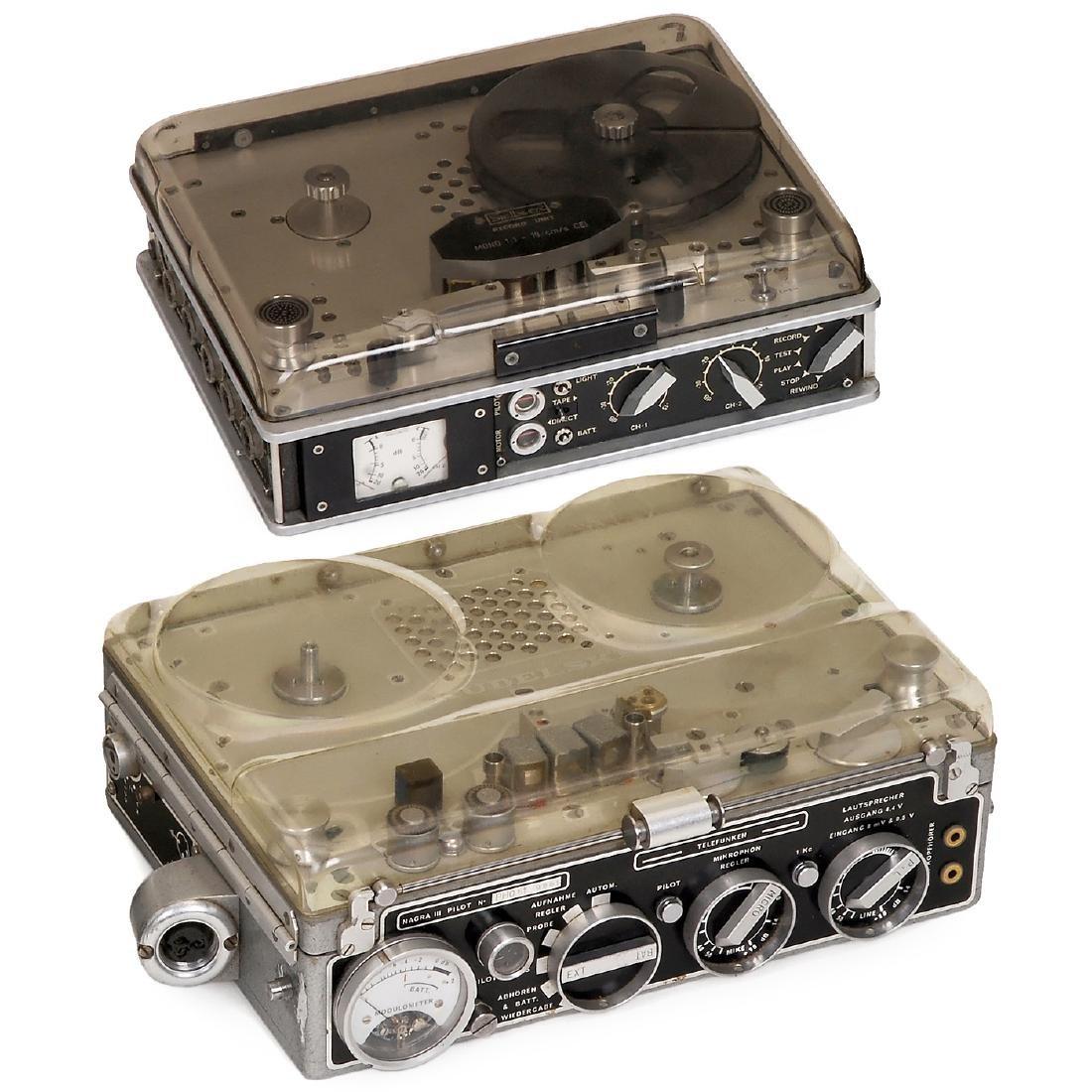 2 Pilottone Tape Recorders