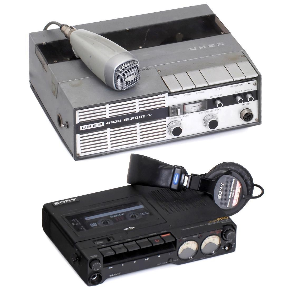 2 Professional Tape Recorders, c. 1980