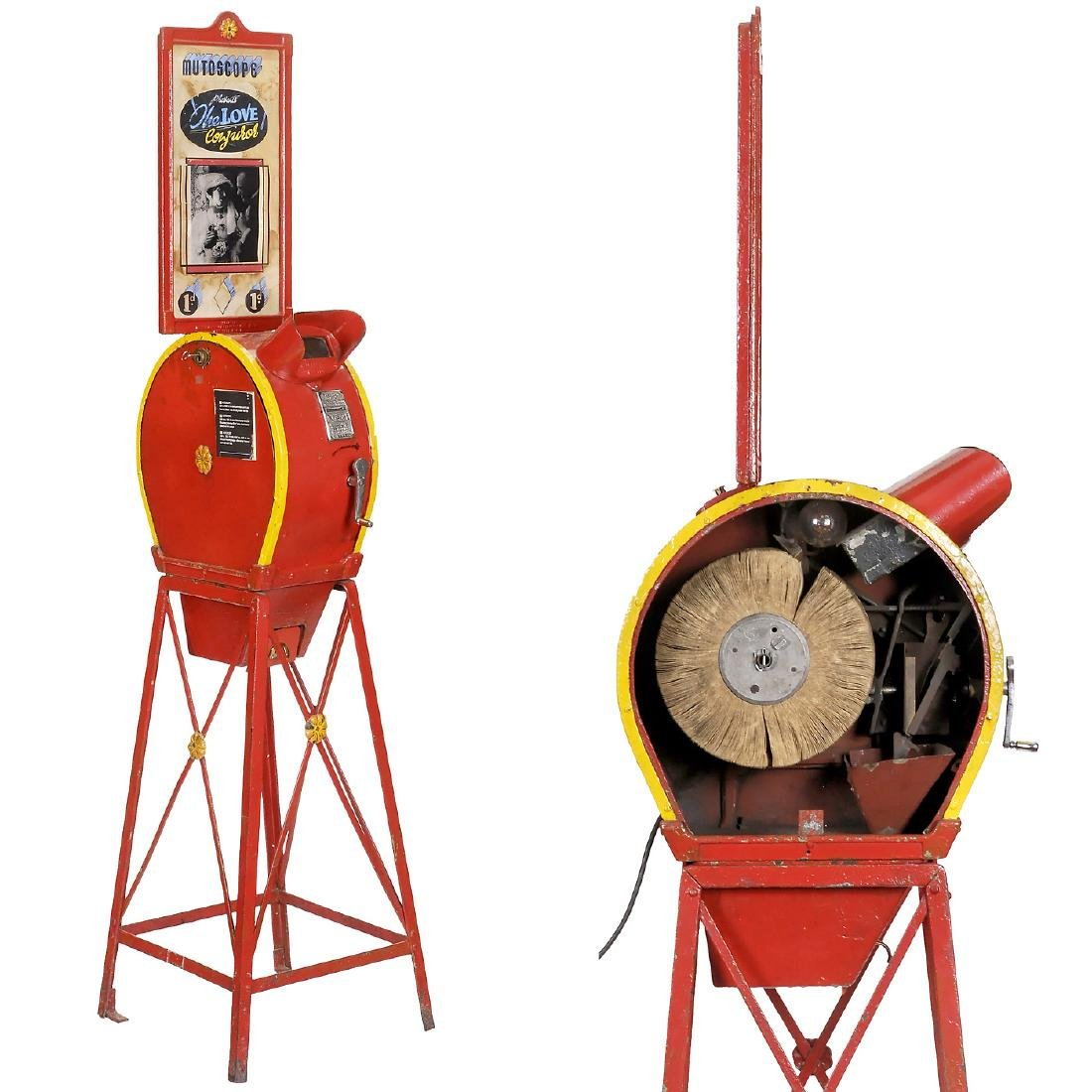 Original Coin-Operated Mutoscope with Reel, c. 1930