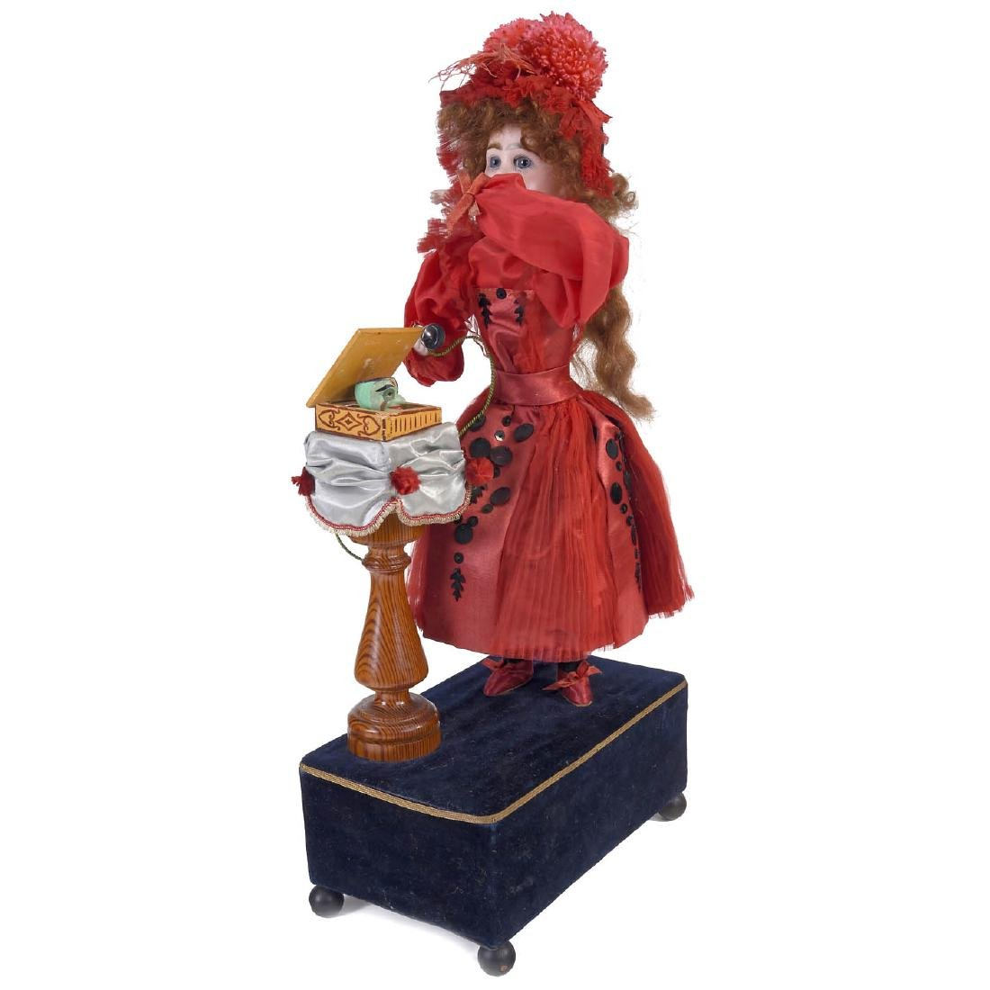 """""""Girl on Telephone"""" Musical Automaton by Louis Renou,"""