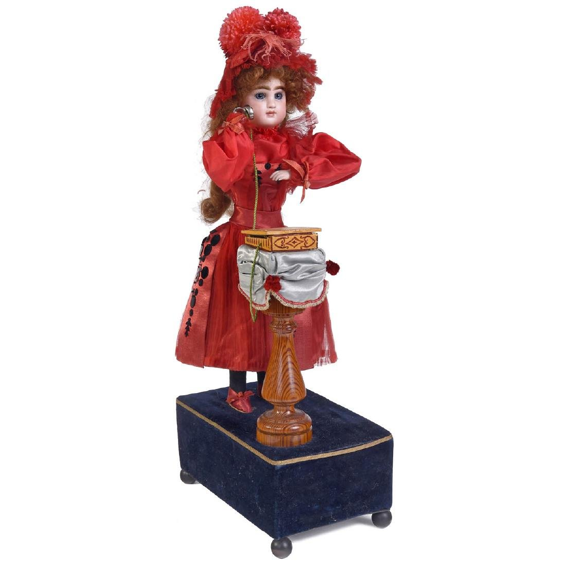 """""""Girl on Telephone"""" Musical Automaton by Louis Renou, - 2"""