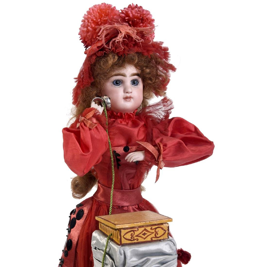 """""""Girl on Telephone"""" Musical Automaton by Louis Renou, - 4"""