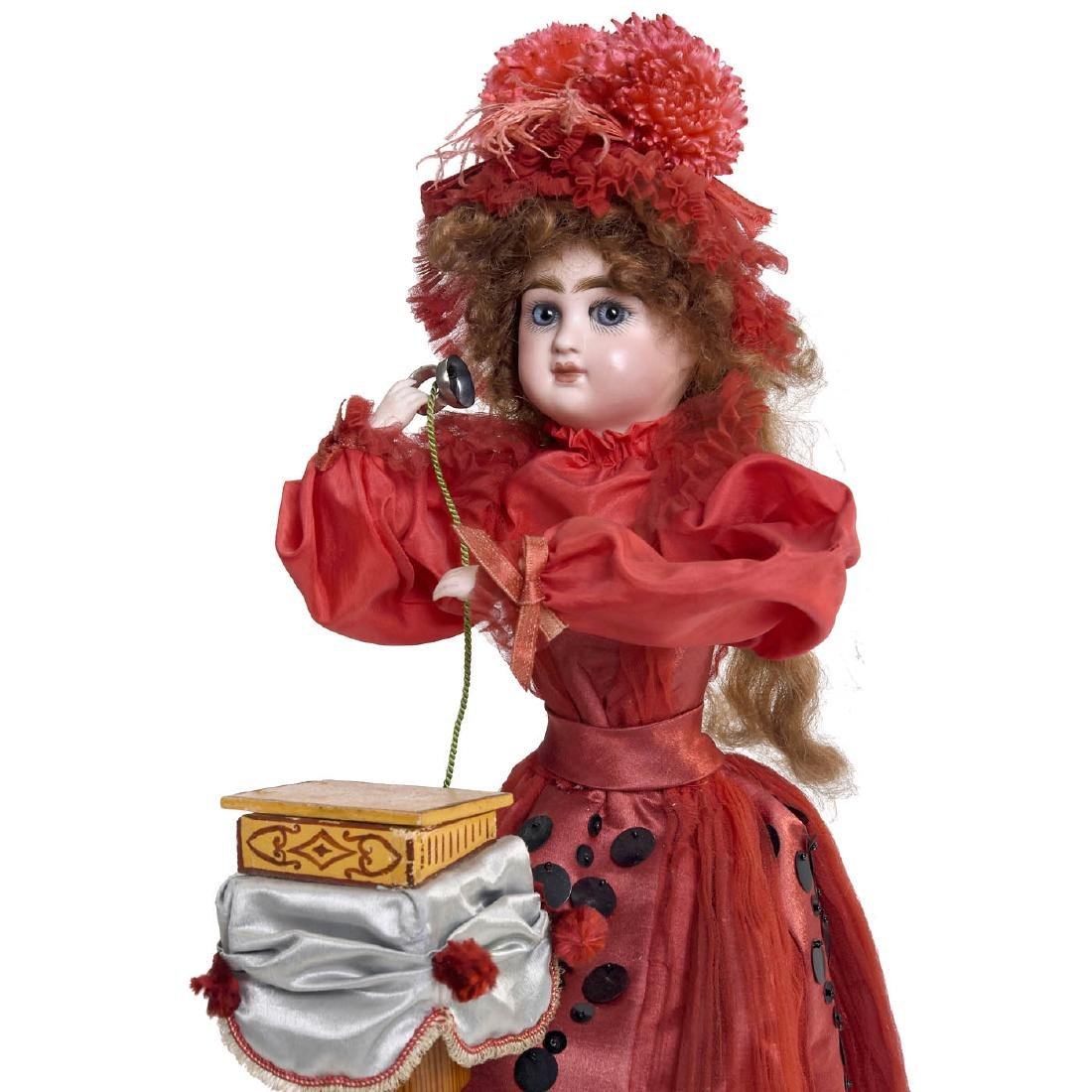 """""""Girl on Telephone"""" Musical Automaton by Louis Renou, - 5"""