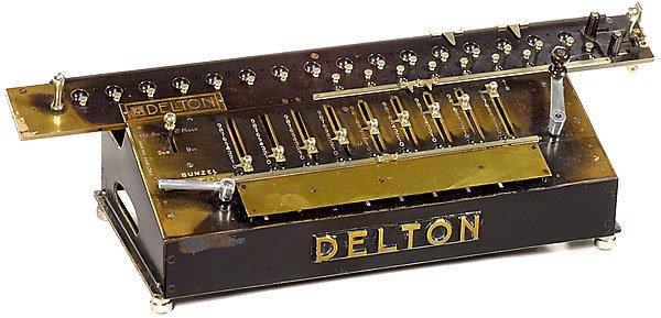 4: Arithmometer Bunzel-Delton, 1908