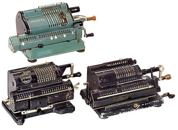 10: 3 Sprossenrad-Rechenmaschinen