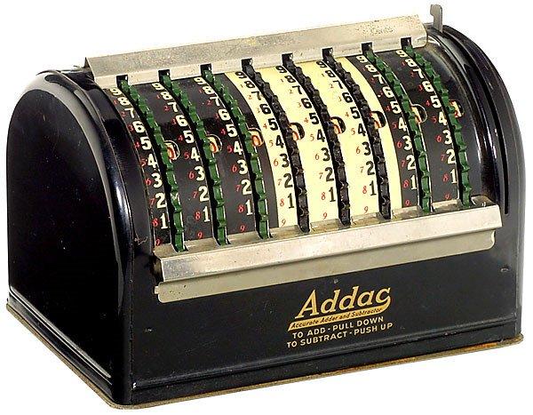 22: Addac, 1925-Calculator-Rechenmaschine