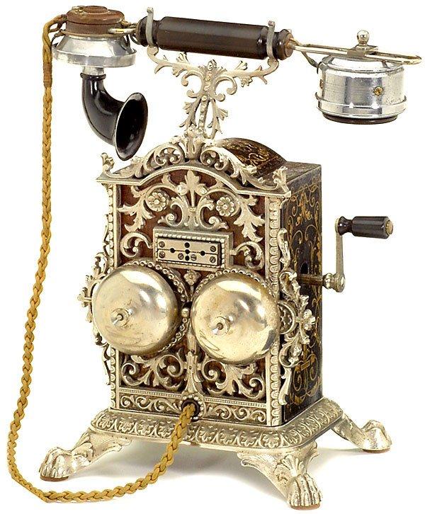 81:De-luxe vintage telephone ,1890 - Prachttelephon