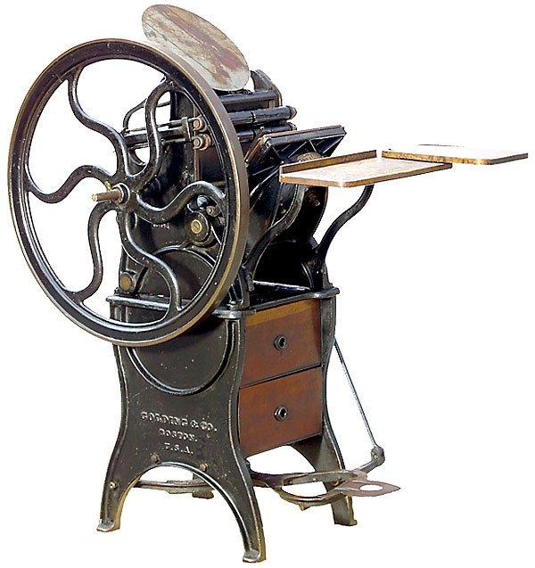 424: Tiegel-Druckpresse Pearl,1895-Printing press