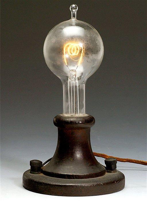 468 Gluehbirne Thomas A Edison 1903 Light Bulb Nov