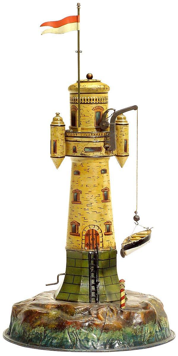 731:Märklin tin toy: Lighthouse,1900-Marklin-Maerklin