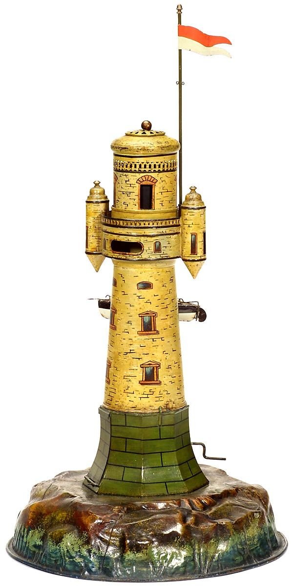 731:Märklin tin toy: Lighthouse,1900-Marklin-Maerklin - 7