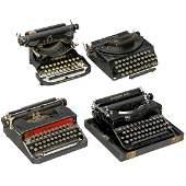4 American Portable Typewriters c 1930