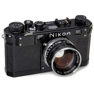 Nikon S Black with Nikkor-S 1,4/5 cm, c. 1952
