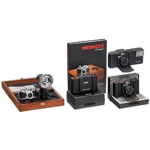 "Minox ""Classic Camera"" Leica IIIf and 3 Minox 35mm"