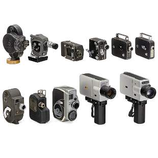 Lot of 11 Movie Cameras, 1930-70